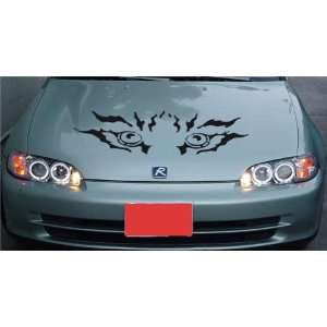 MAZDA HOOD DECAL sticker FIT ANY CAR TIGER EYES