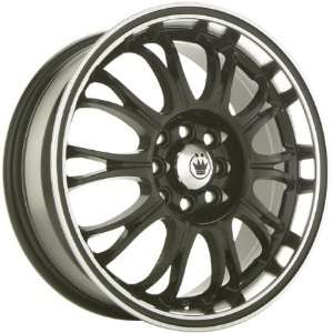 14x6 Konig Quiz (Gloss Black w/ Machined Lip) Wheels/Rims 4x100/114.3
