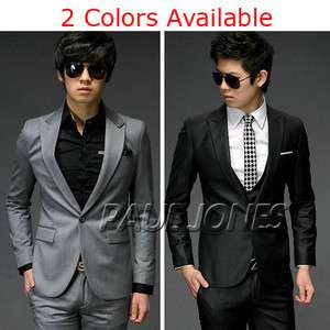 New Men Fashion Stylish Slim Fit One Button Top Suit XZ04 HAND MADE