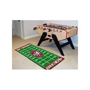 NFL San Francisco 49ers Football Field Runner 30 X 72