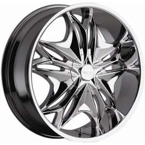Viscera 728 22x8.5 Chrome Wheel / Rim 5x115 & 5x120 with a 35mm Offset
