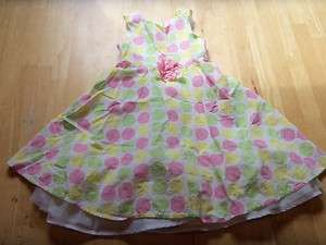 Girls YOUNGLAND Pink Green POLKA DOT DRESS Party 6 CUTE