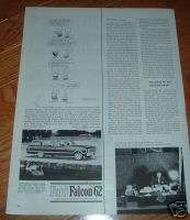1962 Ford Falcon Squire Wagon Ad Peanuts Charlie Brown