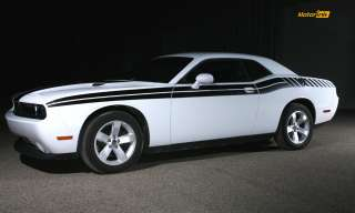 2011 & up Dodge Challenger Side Stripe decal kit Dual+Strobe stripes r