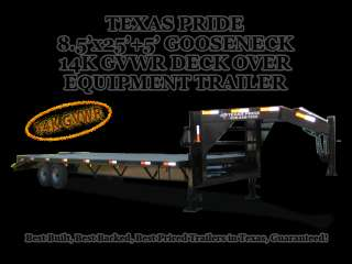 x25+5 GOOSENECK DECK OVER EQUIPMENT TRAILER 14K GVWR
