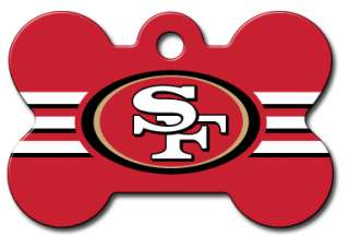 Engraved NFL San Francisco 49ers Pet ID Tags Football