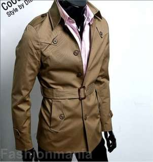 Mens Slim FIT Coat Jacket 2 color 4 Size J08