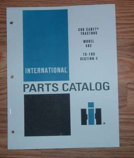 CUB CADET 582 TRACTOR & ENGINE ILLUSTRATED PARTS LIST