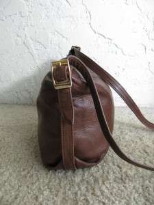 VINTAGE 80s BRIO Chocolate Brown BUTTERY SOFT LEATHER Slouchy Hobo