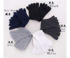 One Pair Mens Pure soft Cotton Fashion Casual Toe Socks Five finger 5