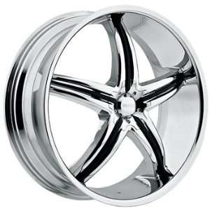 Viscera 770 22x8.5 Chrome Wheel / Rim 5x115 with a 20mm Offset and a