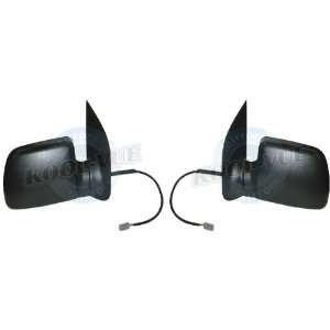 Pair of Side Mirrors, Ford Econline Super Duty, Power, Manual Folding