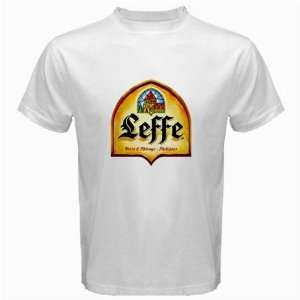 Leffe Blond Beer Logo New White T Shirt Size  3XL