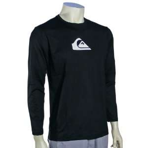 Quiksilver Solid Streak LS Surf Shirt   Black Sports