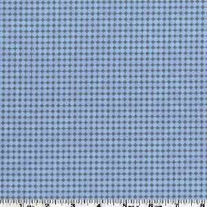 45 Wide Urban Farm Dot Grid Blue/Black Fabric By The