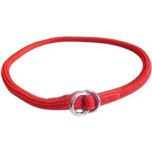 by 24 Inch Round Braided Choke Nylon Dog Collar, Red