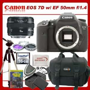 Canon EOS 7D DSLR Camera with Canon Normal EF 50mm f/1.4 USM Autofocus