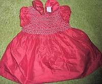 Beautiful Red Smocked Gymboree Christmas Dress 6 12 Months