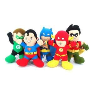 Hero 9 Plush Set with Baby Batman, the Flash, Green Lantern, Robin