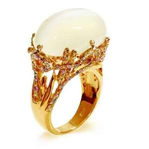 LenYa Specials   Womens Gold Plated 925 Sterling Silver Ring with AAA
