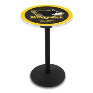 36 Michigan Tech Counter Height Pub Table   Round Base