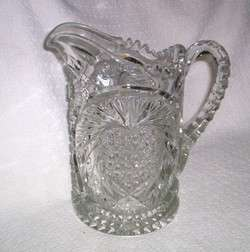 EAPG Krys Tol IVERNA Patterned Glass Water Pitcher