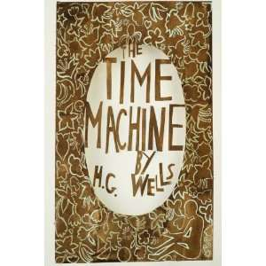 Cover, The Time Machine   Large 24 X 36   Hand Painted Canvas Art