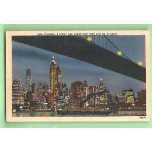 Postcard New York City Skyline Financial District