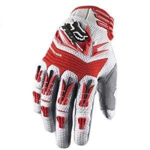 Fox Racing Pawtector Gloves   Large/White/Red Automotive