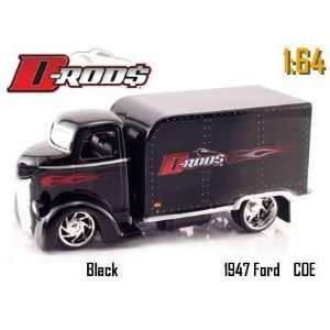 Jada Dub City D Rods Black 1947 Ford Coe Truck 164 Scale