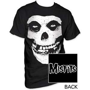 New Misfits Fiend Skull Logo 2 Sided T shirt top punk