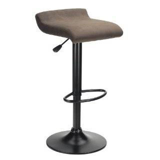 Winsome Wood Marni Air Lift Stool, Micro Fiber Seat Top, Black Finish