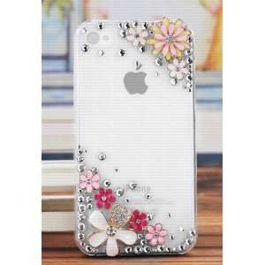 Iphone 4 4s with Pink Gift Box,Free Glue and rhinestone Cell Phones