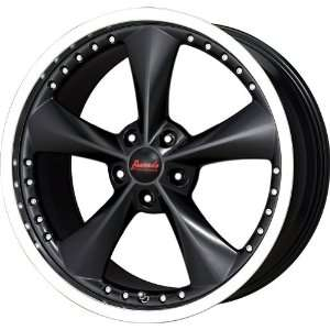 Bravado Matte Black Wheel with Machined Lip (22x11/5x114