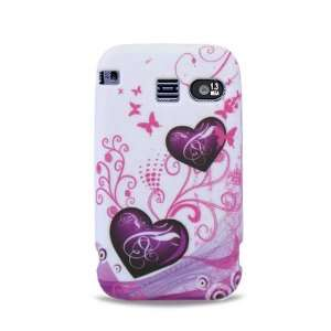Purple Hearts with Pink Butterfly Soft Silicone Skin for