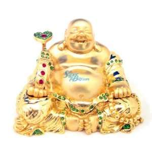 BUDDHA   Jewelry Trinket Box Swarovski Crystal (JF1534) Beauty