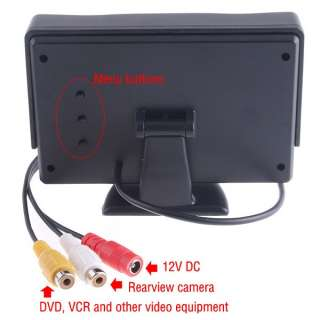 TFT LCD Car Rear View reverse Monitor for Camera