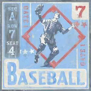 Oopsy daisy Game Ticket Baseball Wall Art 30x30