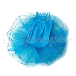 Girls Blue Fairy Ballet Dance Tutu Leotard Dress SZ 4 5 (SKU 12