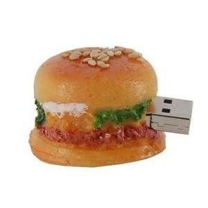 2GB Lovely Mini Hamburger Shape Flash Drive (Yellow