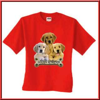Golden Retriever Puppy Dog Bone T Shirt TODDLERS & KIDS