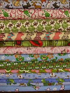 Cotton flannel frogs scottie dogs cow moose monkeys cheer print per1
