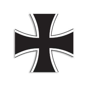 (Black and White) German Iron Cross Sticker