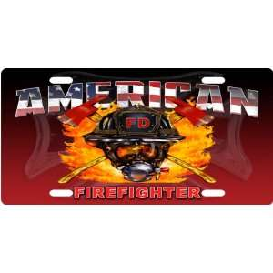 American Firefighter Custom License Plate Novelty Tag from