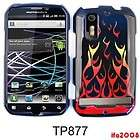 FOR MOTOROLA PHOTON 4G ELECTRIFY WILD FIRE ORANGE RED FLAME CASE COVER