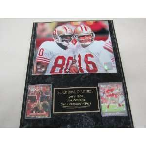 Rice San Francisco 49ers 2 Card Collector Plaque