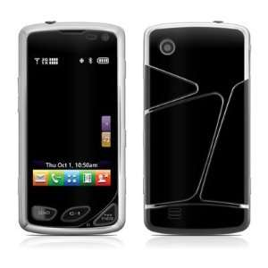 Solid State Black Design Protective Skin Decal Sticker for LG Samba