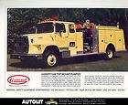 1980s General Ford Fire Truck Brochure Florence
