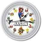 PERSONALIZED SUPER MARIO BROS. GAME WALL CLOCK   GIFT