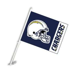 San Diego Chargers NFL Car Flag with Wall Brackett